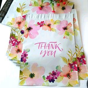 "25 pcs Thank You Poly Mailers Envelopes 10x13"""